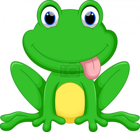 Vector illustration of cute frog cartoon isolated ...