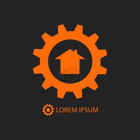 Orange construction company logo