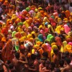 Постер, плакат: Colorful holi festival in India