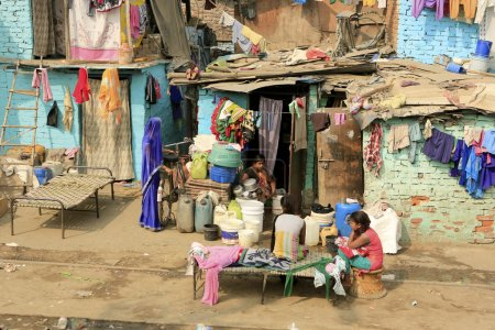 Slums in Delhi,India
