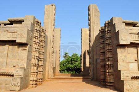 Ancient door gateway in Mamallapuram, India