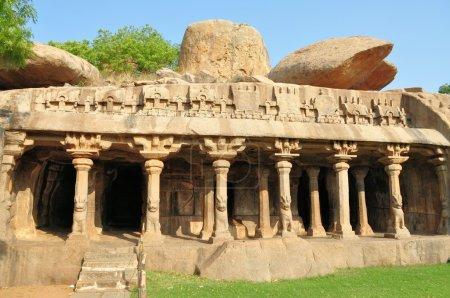 Cave complex in Mamallapuram, Tamil Nadu, India