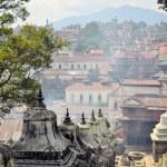 Panorama view of stupas in Pashupatinath Hindu tem...