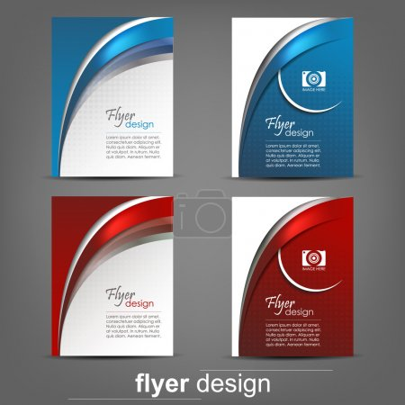 Illustration for Set of business flyer template, corporate banner, cover design or brochure. Design with place for your content or creative editing. - Royalty Free Image