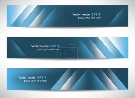 Illustration pour Web header or banner with precise dimension, can be used for your website presentation, vector illustration. - image libre de droit