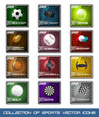 Collection icons of very popular sports