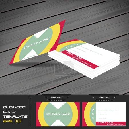 Buisness card template, editable vector design