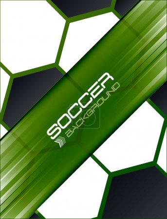 Soccer background, vector illustration