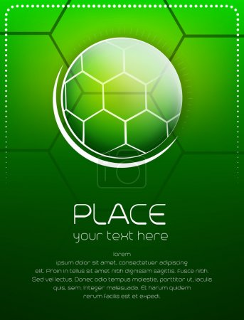 Soccer background with ball and place for text