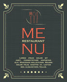 Restaurant menu cover background in vintage style 02