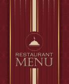 Restaurant menu design cover template in retro style 03