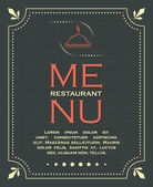 Restaurant menu cover background in vintage style 03