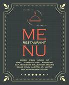 Restaurant menu cover background in vintage style vector illustration