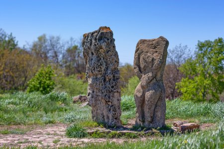 Pagan monuments in Russian steppes near the Don ri...