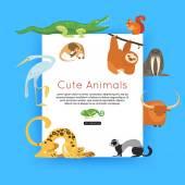 Zoo animals banner