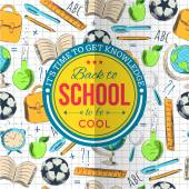 Back to school typographical background