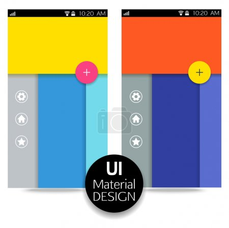 UI material design for mobile or web application