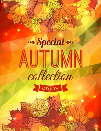 Autumn sale typographical background