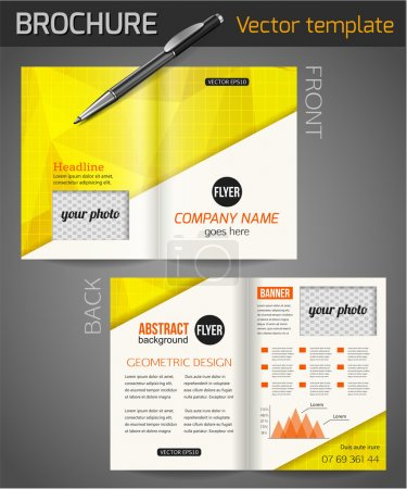 Set of corporate business stationery templates.