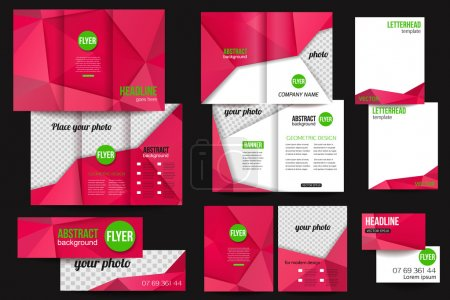 Set of corporate business stationery templates