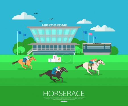 Horse race background