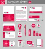 Corporate identity business photorealistic design template Classic stationery template design Documentation for business Vector illustration
