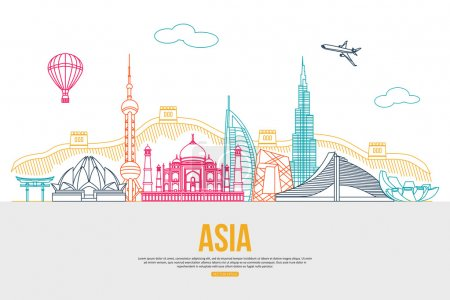 Asia travel background