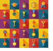 Set of flat awards icons
