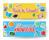 Back to school typographical banners