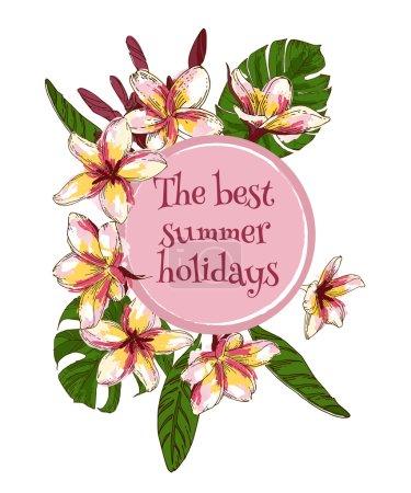 Summer floral vintage card