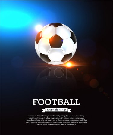 Football background with  ball.