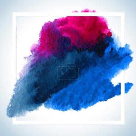 Photo pour Aquarelle course affiche modèle pour lettrage texte ou dicton inspirant. Peinture Carte de teinture Raster Design - image libre de droit