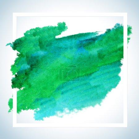Photo pour Aquarelle Peinture Carte Tache Raster Design - image libre de droit