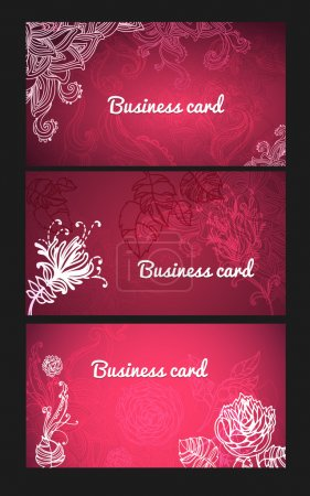 Photo for Set of red business cards - Royalty Free Image