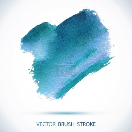 Photo for Vector watercolor ink spot. Wet brush stroke on paper texture. Dry brush strokes. Abstract composition for design elements - Royalty Free Image