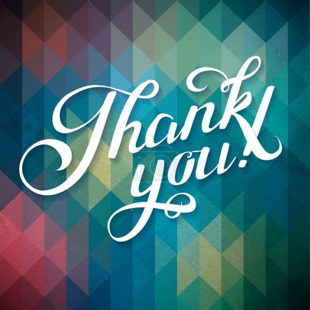 Photo for Thank You Abstract Background Calligraphy. THANK YOU hand lettering -- handmade calligraphy - Royalty Free Image