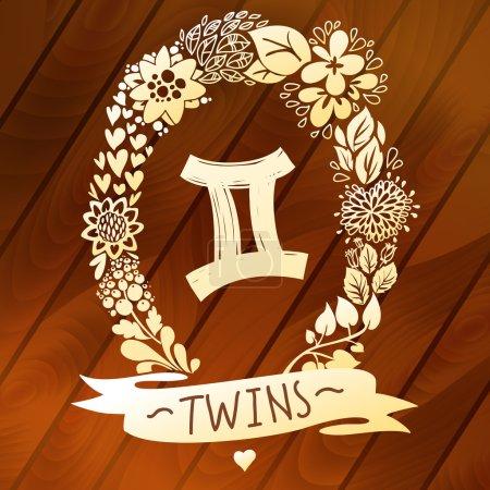 Zodiac sign Gemini (Twins)
