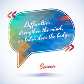 Typographical Background Illustration with quote of Seneca Clever idea from the wise motivating phrase