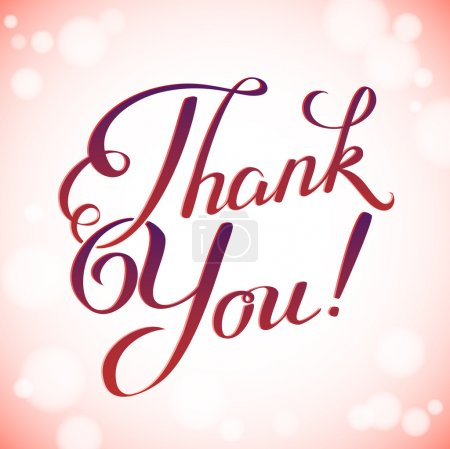 Photo for Thank you card in bright blurred colors, vector background - Royalty Free Image