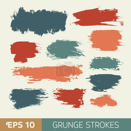 Photo for Vector watercolor  grunge ink spot. Wet brush stroke on paper texture. Dry brush strokes. Abstract composition for design elements - Royalty Free Image