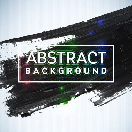 Photo for Abstract painted ink stroke background. Grunge watercolor black background. Retro abstract Hand drawn card. Paper texture - Royalty Free Image