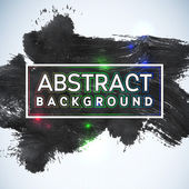 Abstract painted ink stroke background Grunge watercolor black background Retro abstract Hand drawn card Paper texture