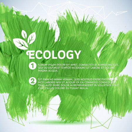 Photo for Green painted background.  Vector illustration for fresh natural design. Ecology backdrop. - Royalty Free Image