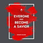 Donate blood motivation information poster