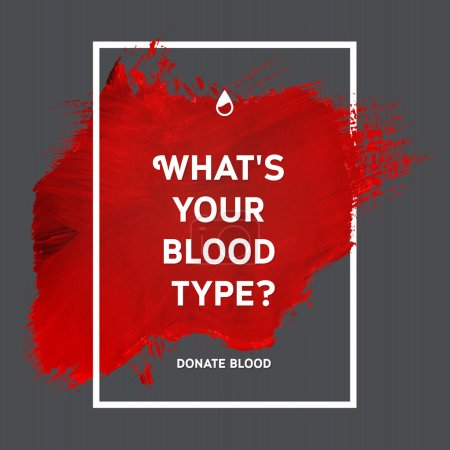 Photo for Creative Donate blood motivation information donor poster. Blood Donation. World Blood Donor Day banner. Red stroke and text. Medical design elements. Grunge texture. - Royalty Free Image