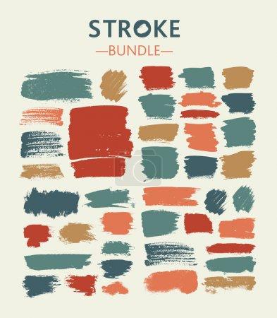 Illustration for Pastel Figured brush strokes set - Royalty Free Image