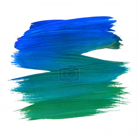Photo for Brush stroke. Acrylic paint stain. Stroke of the paint brush isolated on white - Royalty Free Image