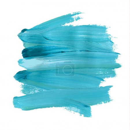 Illustration for Brush stroke. Acrylic paint stain. Stroke of the paint brush isolated on white - Royalty Free Image