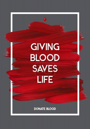 Blood Donor motivation donor poster.