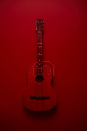 Classic Guitar on red